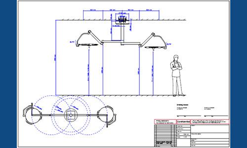 תכנית התקנת מנורת ניתוח