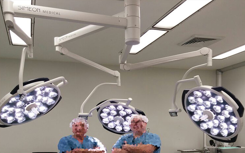 מנורת ניתוח תלת ראשית בית חולים בילינסון מרכז רפואי רבין